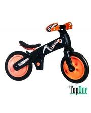 BELLELLI B-Bip обучающий 2-5лет, пластмассовый, чёрный с оранжевыми колёсами SKD