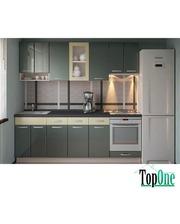 Кухня с гладкими фасадами МДФ 2,4 м Альфа-Мебель