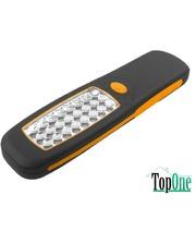 TOLSEN IP62, плоский пластик 210x58мм 24-LED 40 лм 60015