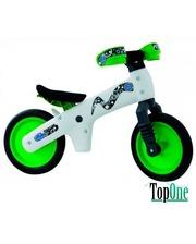 BELLELLI B-Bip обучающий 2-5лет, пластмассовый, белый с зелёными колёсами BIC-75