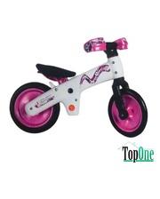 BELLELLI B-Bip обучающий 2-5лет, пластмассовый, белый с розовыми колёсами SKD-90