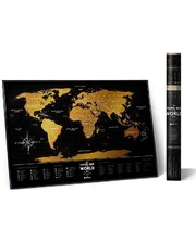 1DEA.me Скретч-карта мира Travel Map Black World (Eng)