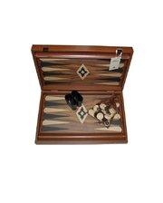 Manopoulos Нарды Manopoulos, грецкий орех, дуб, орехово-черный,48х30см, 2,8 кг