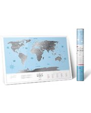 1DEA.me Скретч-карта мира Travel Map Silver World (Eng)