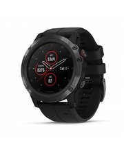 GARMIN Fenix 5x Plus Sapphire Black with Black Silicone (US, Canada) (010-01989-64)