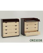 ORIS Пеленальный комод Natural с 4 ящиками Комби 1 (венге) (ORIS038)