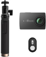 Xiaomi Yi 4K Action Camera Black Kit Selfie Stick + Bluetooth Remote International Edition (YI-90008)
