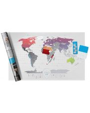 1DEA.me Скретч-карта мира Travel Map Air World (Eng)