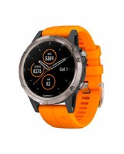 GARMIN Fenix 5 Plus Sapphire Titanium with Orange Silicone (010-01988-73)