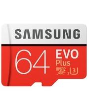Samsung microSDXC 64GB EVO PLUS UHS-I U3 (R100, W60MB/s) (Код товара:3910)