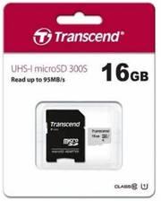 Transcend microSD 16GB Class 10 + адаптер 300S (Код товара:9230)