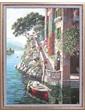 Репродукция картины современной мировой живописи «Вилла на озере Комо «