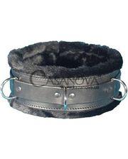 Ошейник с мехом Soft Pleasure Collar чёрный
