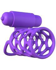 Pipedream Вибронасадка Vibrating Couples Cage фиолетовая