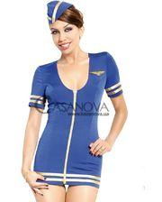 Softline Костюм Stewardess синий
