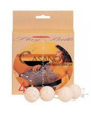 Seven Creations Четыре вагинальных шарика 4 Duotone Play Balls белые