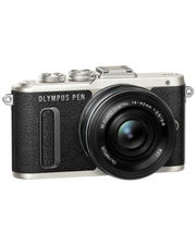 Olympus E-PL8 DZK 14-42 mm Pancake + 40-150 mm black/black (V205083BE000)