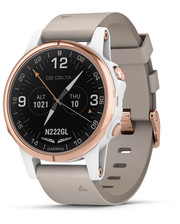 GARMIN D2 DELTA S WATCH WHITE/ROSE GOLD BAND 42mm (010-01987-30)