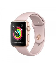 Apple Watch Sport Series 3 42mm GPS Gold Aluminum Case with Pink Sand Sport Band MQL22