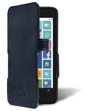 Чехол книжка Stenk Prime для Nokia Lumia 630 Чёрный Гладкий