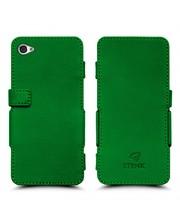 Чехол книжка Stenk Prime для Apple iPhone 4/ 4S Зелёный