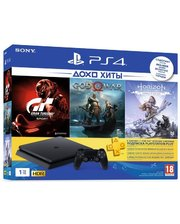 Sony PlayStation 4 Slim 1Tb (Gran Turismo + God Of War + Horizon. Zero Dawn + PSPlus 3М) (9785316)