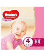HUGGIES ULTRA COMFORT 4 для девочек 66 шт (5029053543628)