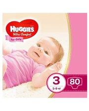 HUGGIES ULTRA COMFORT 3 для девочек 80 шт (5029053543604)