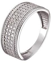 Серебряное кольцо с фианитами Река
