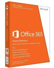Microsoft ПО Microsoft Office365 Home 5 User 1 Year Subscription Russian Medialess P4 (6GQ-01018)
