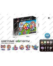 PLAY SMART Магнитный конструктор «Цветные магниты» 46 дет