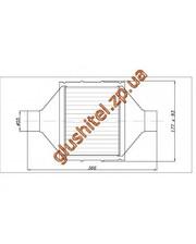 Lindo Catsystem Катализатор универсальный плоский 120.2132 ВP 2800 E3 (объем 2,0-2,8 л, диаметр входа 55мм, длинна 366мм, ширина 177мм, высота 93мм)
