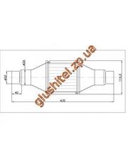 Lindo Catsystem Катализатор универсальный круглый 120.2071 В 2000 Е4 (объем 1,4-2,0 л, диаметр входа 50мм или 55мм, длинна 435мм, диаметр 115мм)