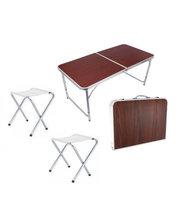 Стол-чемодан для пикника со стульями XBL-120 (120Х60Х70 см)