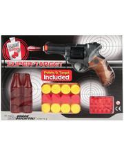Edison Giocattoli Пистолет EDISON Supertarget 19см 6-зарядный с мишенями и пульками (480/21)