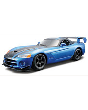 BBURAGO (1:24) Dodge Viper SRT10 ACR (2008) (18-25091) Голубой металлик