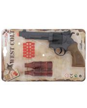 Edison Giocattoli Пистолет EDISON West Colt 28см 8-зарядный с мишенью и пульками (465/32)
