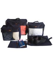 Набор дорожных сумок 5 шт (синий)