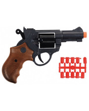 Edison Giocattoli Пистолет EDISON Jeff Watson 19см 6-зарядный с пульками (459/21)