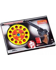 Edison Giocattoli Пистолет EDISON Target Game 28см 8-зарядный с мишенью и пульками (485/22)