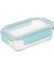 GlassLock Стеклянный контейнер для хранения с прозрачной герметичной крышкой с креплениями Glasslock, 400 мл., прямоугольный (MCRB-040P)