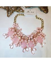 Нежно розовое колье
