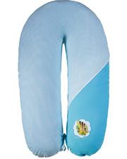 Подушка для кормления Ідея Стандарт (в сумке) бирюза (белая точка)