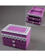 Деревянная шкатулка Фиолетовая