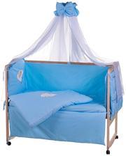 QUATRO Детская постель Qvatro Ellite AE-08 апликация Голубой (мишка спит на облаке)