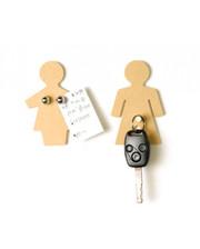MAN + WOMAN набор магнитов -крючков