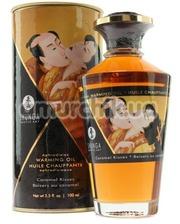 Shunga Массажное масло Warming Oil Caramel Kisses с согревающим эффектом - карамель, 100 мл