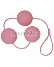 Orion Вагинальные шарики Velvet Pink Balls розовые