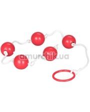 Cal Exotic Анальные шарики Medium Anal Beads, красные