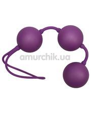 Orion Вагинальные шарики Velvet Purple Balls фиолетовые